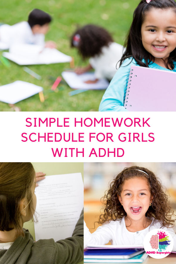 homework schedule girls adhd