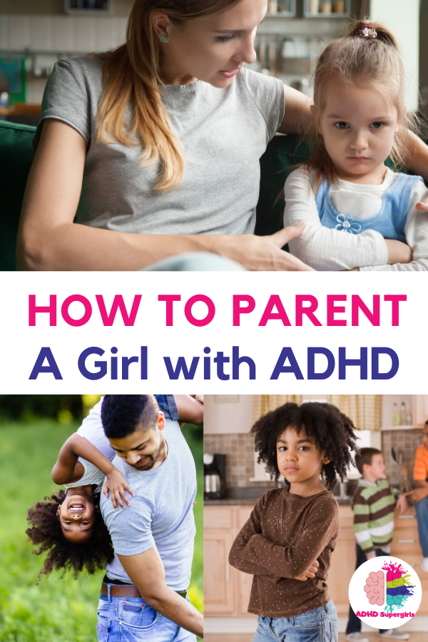 parent girl with adhd