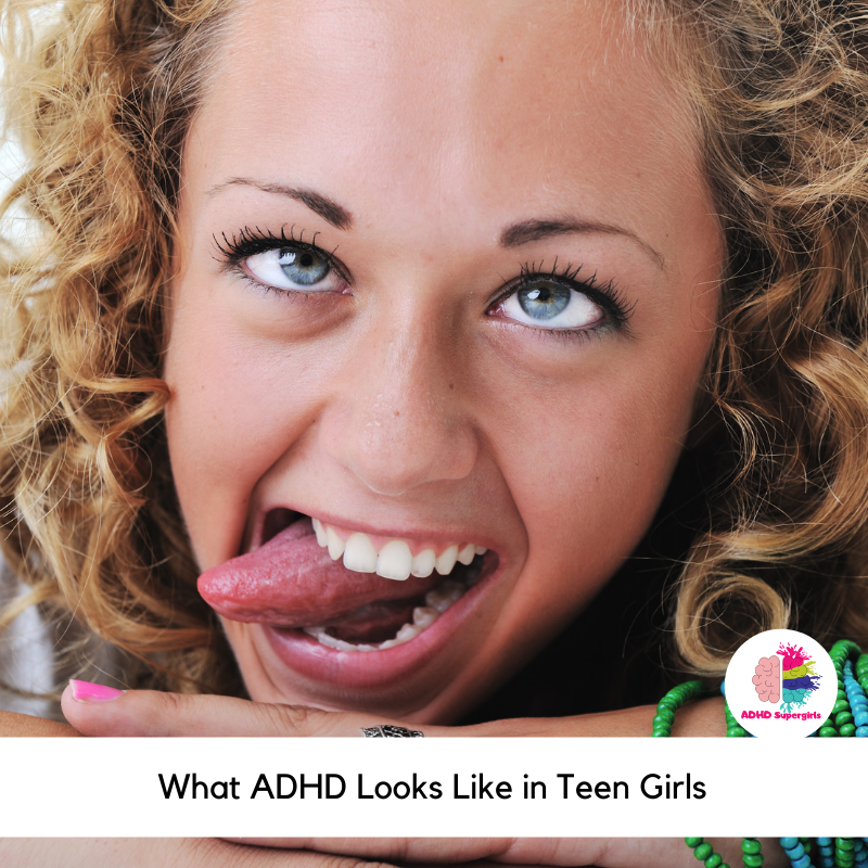 Do I have ADHD as a teenage girl? Teenage girls often go under-diagnosed with ADHD because a lot of medical professionals and schools don't know how to recognize the symptoms of ADHD in teenage girls. Learn how to recognize the signs of ADHD in teen girls.